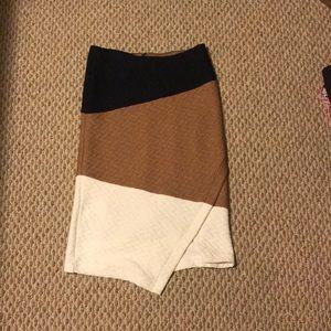 Anthropologie asymmetrical sweater skirt